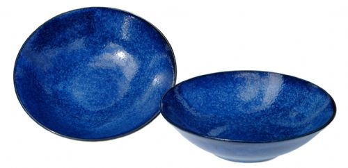 Japanese Blue Moon shallow bowls 17.0 cm X2